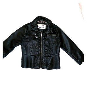 Kids edgy faux leather jacket SZ4